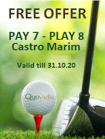 1 Free Golfer in 8 offer at Castro Marim