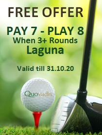 1 Free Golfer in 8 offer at D.Pedro Laguna