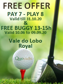 Free Buggy offer at Vale do Lobo Royal